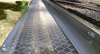 xtreme gutter guards close up on house
